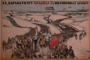 vinatge Russain poster - Long live the three-million man Red Army! 1919
